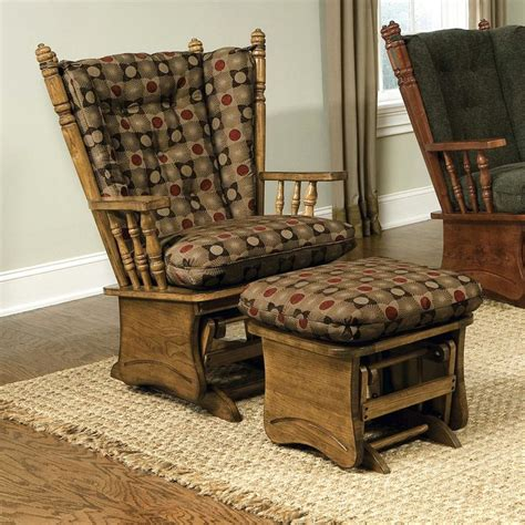glider rockers brooks furniture wing  solid panel