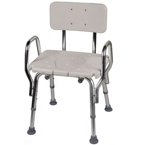 Shower Chair With Arms And Back - snap n save shower chair with cut out back and arms