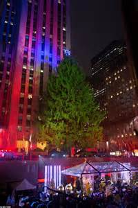 rockefeller tree lights up and officially kicks