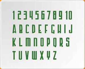 numbers and letters 2 armour piercing set wall sticker With letters and numbers wall stickers