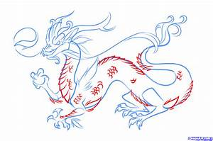 How to Draw a Chinese Dragon Easy, Step by Step, Dragons ...