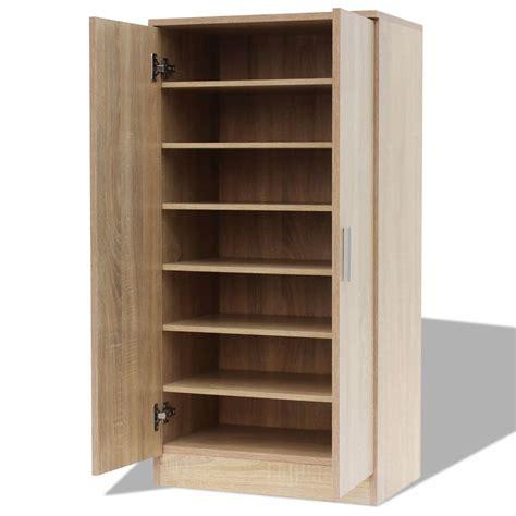 Cupboard Unit by Vidaxl Shoe Cabinet 7 Shelves Oak Rack Storage Unit