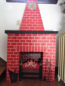 Red Brick Cardboard Fireplace