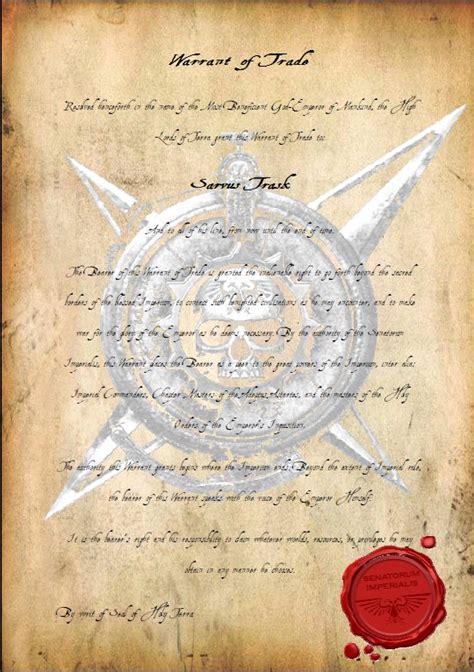 warrant  trade warhammer  fandom powered  wikia