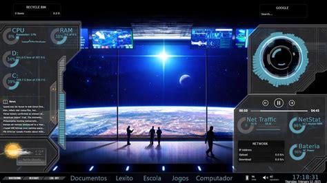 custom desktop  spaceship dashboard