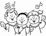 Choir Clipart Children Church Coloring Clip Singing Drawing Cliparts Child Sketch Choirs Cartoon Clipartix Childrens Music Worship Library Getdrawings Pages sketch template