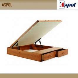 canap 233 aspol mixto madera tapa abatible y cajones en piecero