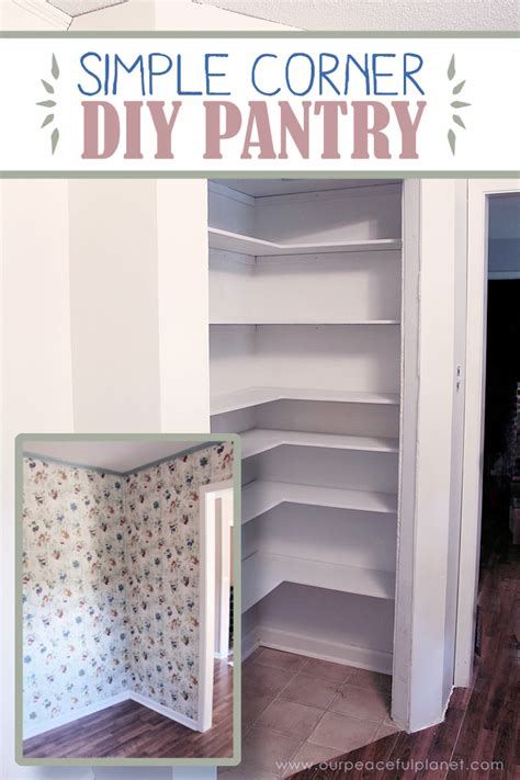 corner pantry cabinet diy add space convenience with a simple diy pantry