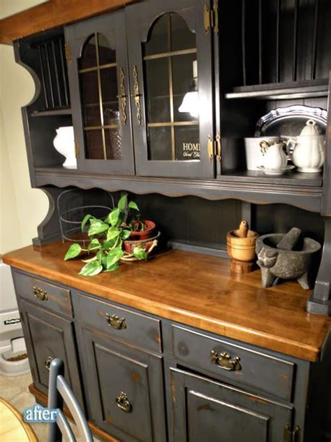 painted kitchen hutches best 25 hutch redo ideas on hutch makeover