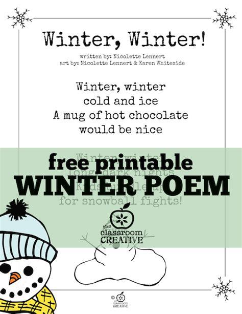 free printable winter poem for every time we recite 712 | f7e6e5d4c6c4239126793373b4ce6291