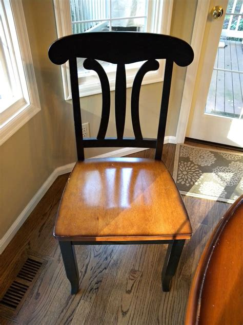 kitchen chair makeover hometalk kitchen table and chair makeover with stain and 3344
