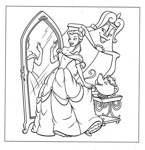 Coloring Disney Princess Coloring Book Page by Disney Princess Coloring Pages To