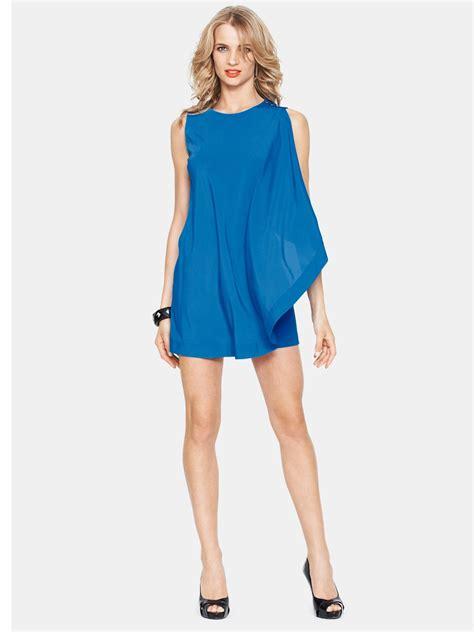 drape tunic dress ted baker bolty drape tunic dress in blue mid blue lyst
