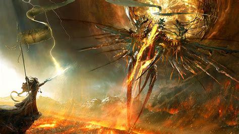 diablo iii angel demon fantasy art fan art fire