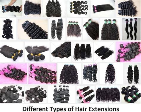Different Of Hair by Different Types Of Hair Extensions Portal