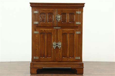 victorian  antique oak kitchen pantry ice box