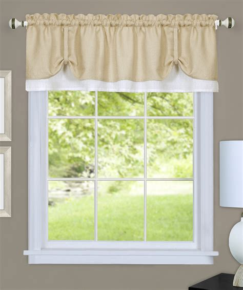 And White Valance by Darcy Layered Valance White Layered Valances