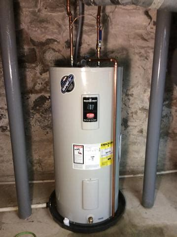 Water Heater Repair  Installation Of 40 Gallon Electric
