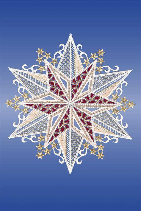 Fensterdeko Weihnachten Rot by Fensterbilder Plauener Spitze Winter Schneekristall Rot