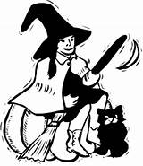 Witch Halloween Clipart Witches Cat Hag Broom Domain Clip Svg Evil Broomstick Holiday Wpclipart Cliparts Library Worksheets Kindergarten Letters Words sketch template
