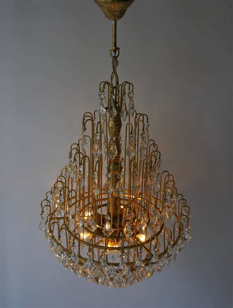Chandelier Crystals For Sale by Brass And Chandelier For Sale At 1stdibs