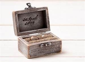 wedding ring box ring holder pillow bearer box With personalised wedding ring box