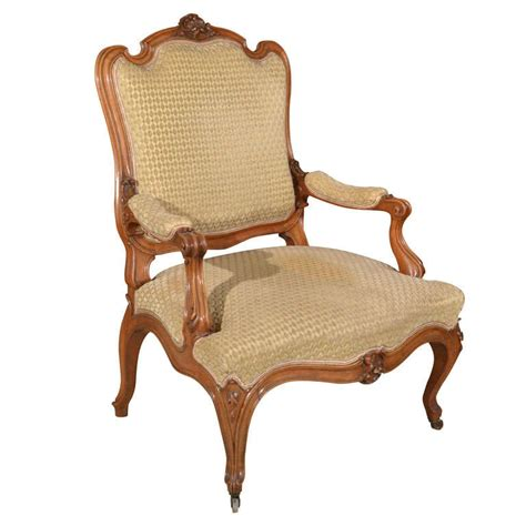 fauteuil style louis xv provincial louis xv style fruitwood fauteuil for sale at 1stdibs