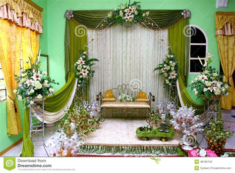 wedding stage stock photo image  flowers marriage