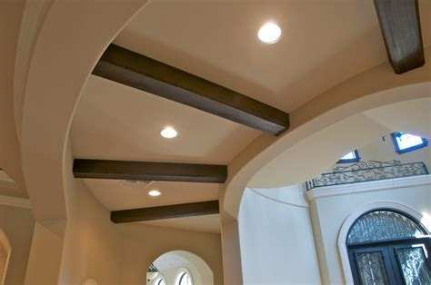 Faux Wood Beam Ceiling Designs   Traditional   Hall   New