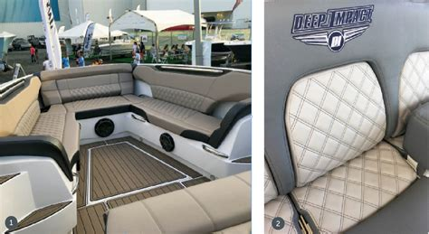 How To Do Marine Upholstery boat shows highlight new marine upholstery trends marine