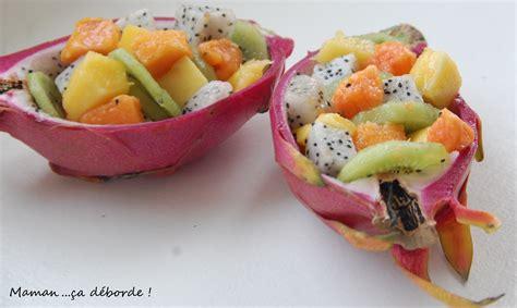 site recette de cuisine salade de fruits exotiques maman ça déborde