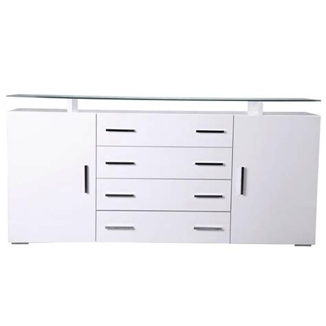 high gloss white cabinet doors bn white high gloss sideboard cupboard 4 drawers 2 doors
