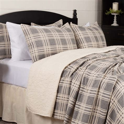 Grey Coverlet by Logan Gray Coverlet Blanket Piper Classics