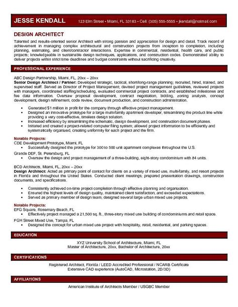 Architect Resume Template by Best 25 Architect Resume Ideas On