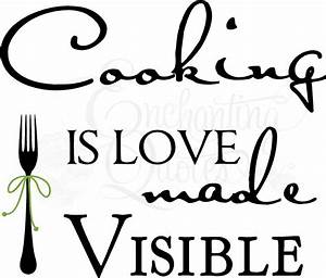 kitchen decals kitchen wall quotes cooking is love made With kitchen colors with white cabinets with wall word art quotes