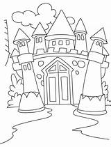 Castle Coloring Medieval Drawing Awesome Pages Kidsplaycolor Princess Dragon Printable sketch template