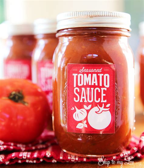 how to can tomato sauce free canning labels for homemade tomato sauce skip to my lou