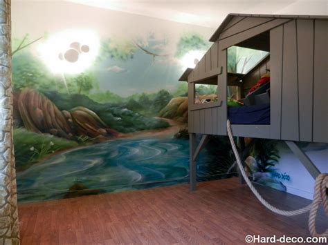 deco chambre jungle décor de jungle et rivière pour une chambre d 39 enfant avec