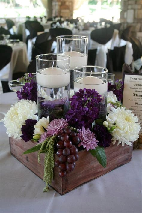 elegant rustic table centerpiece idea for dining table or