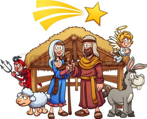 presepe clipart nativity with shooting and hiding