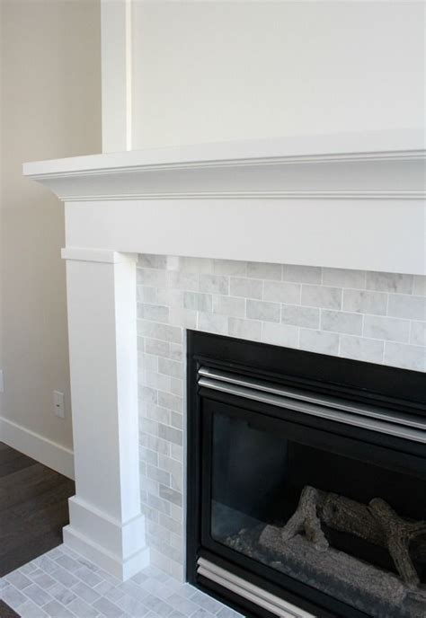 White & Marble Fireplace (The Makeover Details   Trim