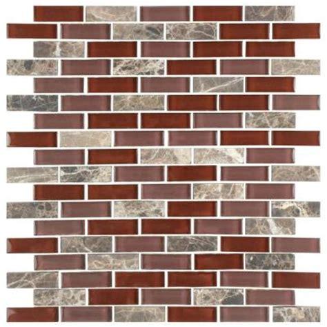 home depot merola subway tile merola tile tessera subway bordeaux 11 3 4 in x 11 3 4 in