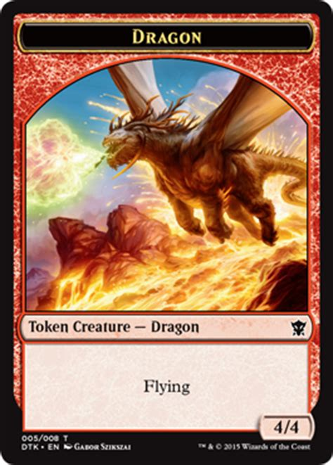 Standard Deck Mtg Dragons Of Tarkir by Tokens Of Dragons Of Tarkir Magic The Gathering