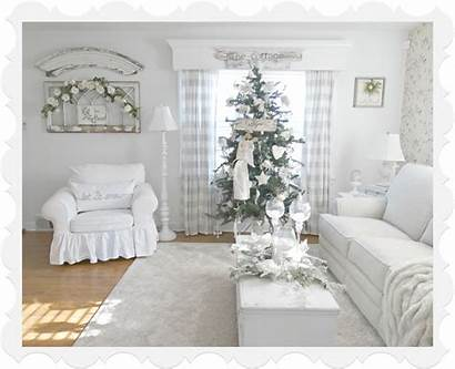 Christmas Living Decor Tiny Cottage Tree Junk