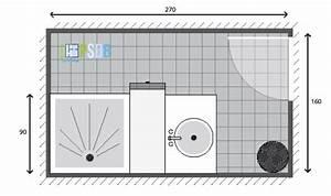 Plan Salle De Bain 4m2 : exemple de plan de salle de bain de 4 3m2 mon plan de ~ Nature-et-papiers.com Idées de Décoration