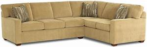 L shaped contemporary sectional sofa by klaussner wolf for Sectional sofas gardiners