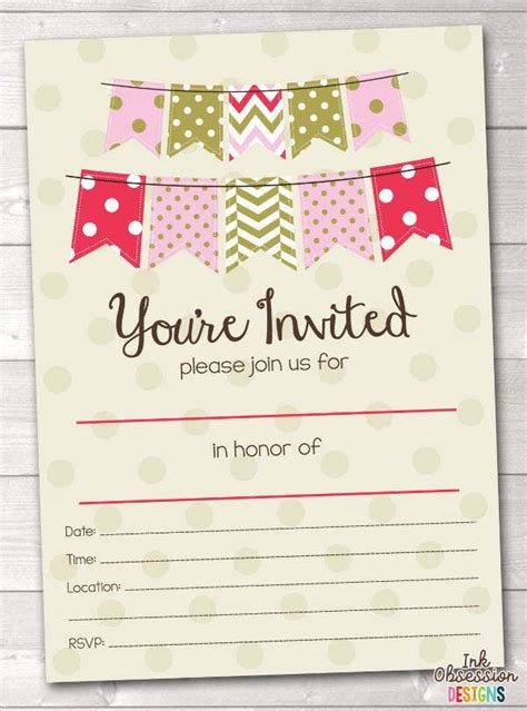 blank party invitations  editable psd ai vector