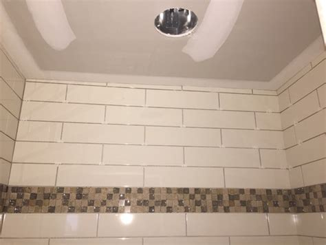 shower walls not square