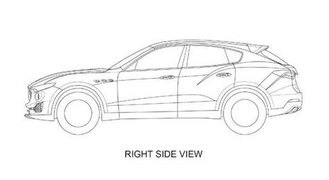 Kleurplaat Personenauto by Levante Shown In Patent Drawings Maserati Levante Forum