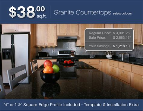 38 square foot granite limited promotion